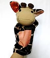 Hračky - Maňuška žirafa - Žirafka od Svetlej zlatej bodky - 13859114_