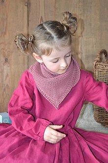 Detské doplnky - Pletená šatka z merino vlny - 13860777_