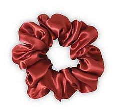 Ozdoby do vlasov - Saténová scrunchie | CLASSIC (Copper (medená)) - 13860250_