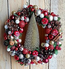 Dekorácie - Vianočný veniec - 13861608_