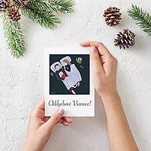 Papiernictvo - Vianočná pohľadnica Oddychové Vianoce! - 13860163_
