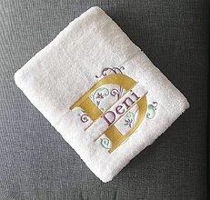 Úžitkový textil - Vyšívané uteráky s menom - 13861793_