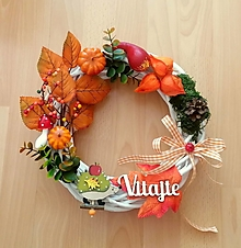 Dekorácie - jesenný venček na dvere - 13862773_