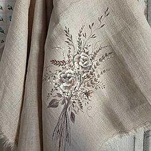 """Úžitkový textil - Set dvoch ručne maľovaných utierok """" Jesenná ruža """" - 13864404_"""