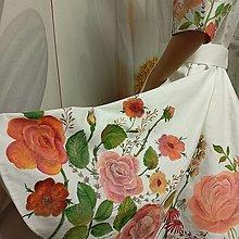 """Šaty - Svadobné, ručne maľované šaty """" Ruža """" - 13865003_"""