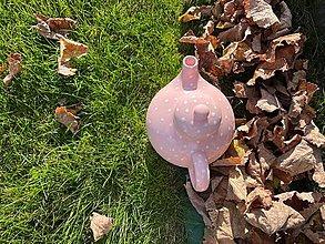 Nádoby - Čajník  v ružovom - 13863363_
