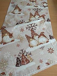 Úžitkový textil - Obrus -štóla hnedý trpaslík - 13865236_