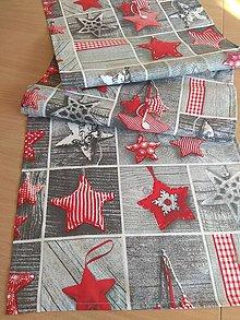 Úžitkový textil - Obrus -štóla srdce na sivom - 13865288_