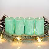 Svietidlá a sviečky - Adventné sviečky zo 100% palmového vosku - Mentolové - 13863850_