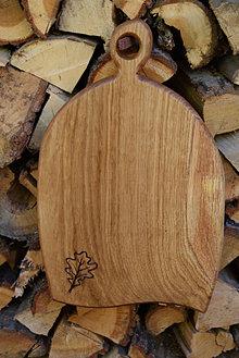 Pomôcky - Dubové denko s rezbou - dubový list 1 - 13863522_