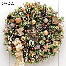 Dekorácie - Vianočný veniec medený - 13863614_