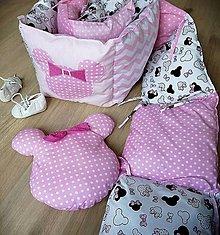 Textil - Do postieľky s Minnie - 13863744_