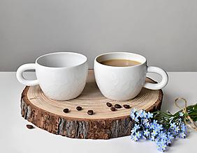 Nádoby - Porcelánové hrnky s kapkami (2ks) - 13865525_
