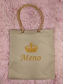 Nákupné tašky - Vyšívaná taška s menom - 13865134_