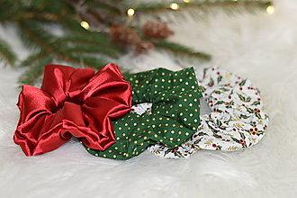 Ozdoby do vlasov - Gumičky na vianočnú oslavu - 13866074_