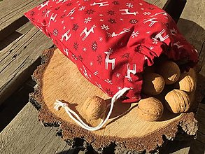 Úžitkový textil - Vianoce vrecúška červené .... - 13865114_
