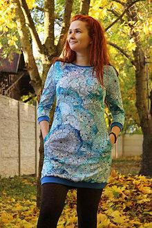 Šaty - Šaty Modré mandaly - 13864602_
