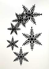 Dekorácie - Vianočné vločky - 13863841_