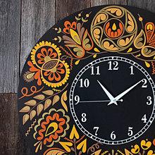 Hodiny - Čierne hodiny s Vajnorským ornamentom - 13862991_