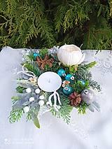 Dekorácie - Vianočný svietnik - 13863845_