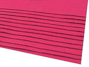 Textil - látková dekoratívna plsť 20x30cm (Ružová) - 13865823_