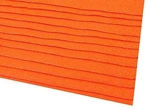 Textil - látková dekoratívna plsť 20x30cm (Oranžová) - 13865828_
