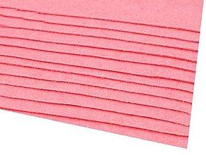 Textil - látková dekoratívna plsť 20x30cm (Ružová) - 13865843_