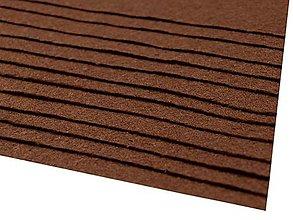 Textil - látková dekoratívna plsť 20x30cm (Hnedá) - 13865848_