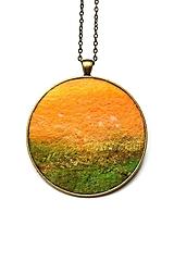 """Náhrdelníky - Arttexový prívesok """"Slnečná príroda"""" - veľ.XL - 13870092_"""