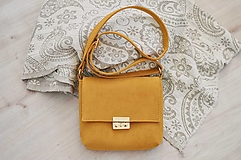 Kabelky - Leona kabelka (horčicová) - 13869413_