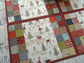 Úžitkový textil - Winter Wonderland... prestieranie  sada 4ks - 13868889_