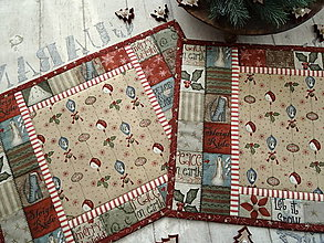Úžitkový textil - Merry and Bright... prestieranie  sada 4ks - 13869205_