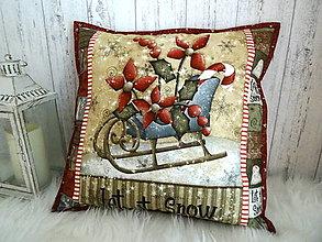 Úžitkový textil - Merry and Bright... vankúš  No.4 - 13869535_