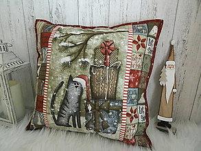 Úžitkový textil - Merry and Bright... vankúš  No.3 - 13869539_