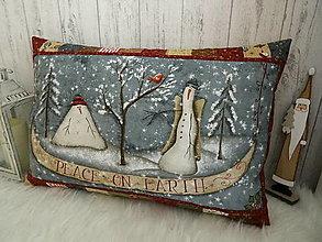 Úžitkový textil - Merry and Bright... vankúš  No.2 - 13869546_