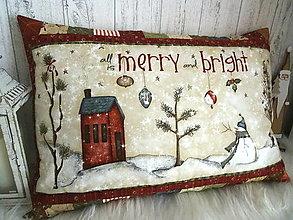 Úžitkový textil - Merry and Bright... vankúš  No.1 - 13869551_