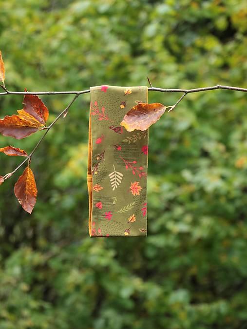 Úpletová čelenka jeseň