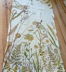"""Úžitkový textil - Ľanový maľovaný obrus """" Lúčne trávy II."""" - 13869042_"""