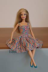 Hračky - Háčkované šaty pre bábiku Barbie - 13870223_