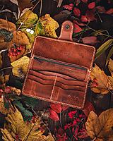 Peňaženky - Dámska kožená peňaženka - 13869917_