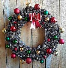 Dekorácie - Vianočný veniec - 13868316_