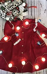 Detské oblečenie - Ľanové šaty pre dievčatká - 13869970_