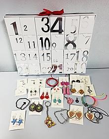 Náušnice - Strieborný adventný kalendár so šperkami v hodnote 110 eur - 13871385_