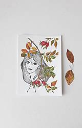 Obrázky - Deva a šípky, akryl, 15 x 21 cm - 13870615_