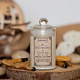Svietidlá a sviečky - Sviečka zo sójového vosku v skle - Čučoriedka&Vanilka - 13870372_
