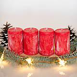 Svietidlá a sviečky - Adventné sviečky zo 100% palmového vosku - Červené - 13873118_