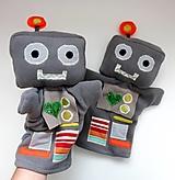 Hračky - Maňuška ROBOT - na objednávku - 13870947_