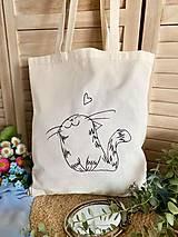 Nákupné tašky - ♥ Plátená, ručne maľovaná taška ♥ - 13870369_
