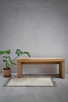 Úžitkový textil - RUČNE TKANÝ koberec / prírodná biela / 60 x 90 cm - 13874456_