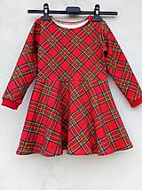 Detské oblečenie - Kárované šaty č 92 - 13870365_